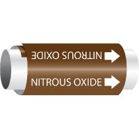 Setmark® Snap-Around Pipe Markers - Nitrous Oxide
