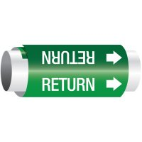 Setmark® Snap-Around Pipe Markers - Return