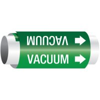 Setmark® Snap-Around Pipe Markers - Vacuum