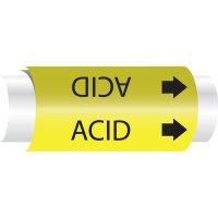 Setmark® Snap-Around Pipe Markers - Acid