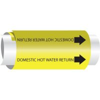 Setmark® Snap-Around Pipe Markers - Domestic Hot Water Return