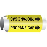 Setmark® Snap-Around Pipe Markers - Propane Gas