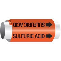 Setmark® Snap-Around Pipe Markers - Sulfuric Acid