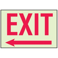 Luminous Path Marker Signs - Exit with Arrow Left