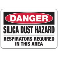 Silica Dust Hazard Respirators Required - Silica Safety Signs