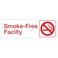 Smoke-Free Facility - Engraved Graphic Room Signs