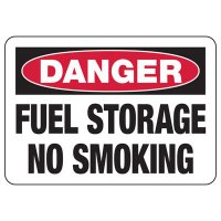 Danger Signs - Fuel Storage No Smoking