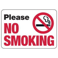 Please No Smoking - No Smoking Sign