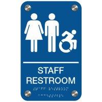 Staff Restroom (Dynamic Accessibility) - Premium ADA Restroom Signs
