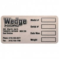Stainless Steel Etched Nameplates