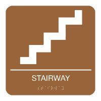 Stairway - Graphic Braille Signs