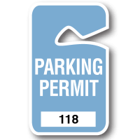 Parking Permit Stock Handicapped Parking Permits