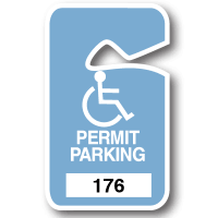 Handicapped Graphic Stock Parking Permits