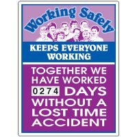 Stock Scoreboards - Working Safely