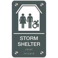 Storm Shelter (Dynamic Accessibility) - Premium ADA Facility Signs