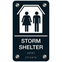Storm Shelter - Premium ADA Facility Signs
