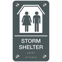 Storm Shelter - Premium ADA Facility Signs