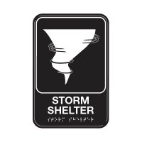 Storm Shelter W/ Symbol - Graphic ADA Braille Tactile Signs