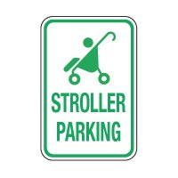 Stroller Parking (Graphic) - Preschool Parking Signs