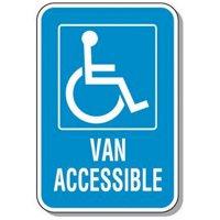 Handicap Signs - Van Accessible (Symbol of Access)