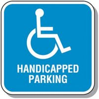 Handicap Signs - Handicapped Parking (Square)