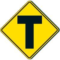Reflective Warning Signs - 3-Way Traffic Symbol