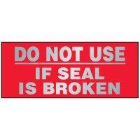 Tamper Evident Void Labels - Do Not Use