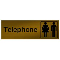 Telephone - Engraved Graphic Room Signs