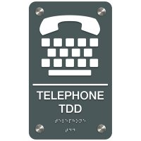 Telephone TDD - Premium ADA Facility Signs