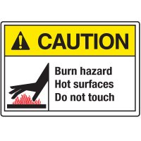 Temperature Warning Signs - Caution Burn Hazard
