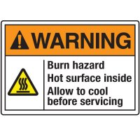 Temperature Warning Signs - Warning Burn Hazard