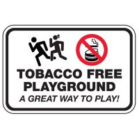 Tobacco Free Playground - Playground Sign