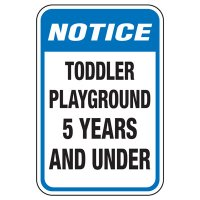 Toddler Playground - Playground Sign