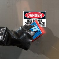 ToughWash® Labels - Danger Non-Permit Confined Space