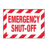 ToughWash® Labels - Emergency Shut-Off