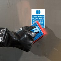 ToughWash® Labels - Keep Hands Clear Machine