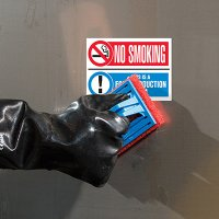 ToughWash® Labels - No Smoking Food Production Area