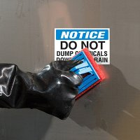 ToughWash® Labels - Notice Do Not Dump Chemicals