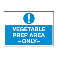 ToughWash® Labels - Vegetable Prep Area