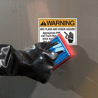 ToughWash® Labels - Warning Arc Flash And Shock Hazard