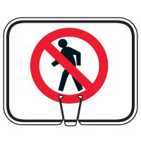 Traffic Cone Signs - Do Not Walk Symbol