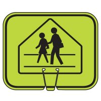 Arrow Sign Traffic Cone Signs - Pedestrian Crossing Symbol V-SCWK-R