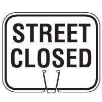 Traffic Cone Signs - Street Closed