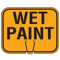 Traffic Cone Signs - Wet Paint