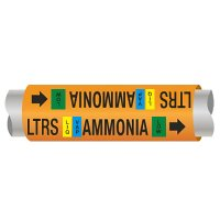 Ultra-Mark® Ammonia Pipe Markers - Low Temp Recirc Suction
