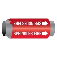 Ultra-Mark® Snap-Around High Performance Pipe Markers - Sprinkler Fire