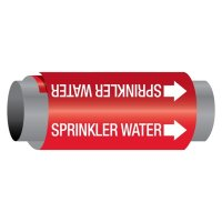 Ultra-Mark® Snap-Around High Performance Pipe Markers - Sprinkler Water