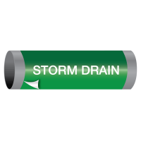 Ultra-Mark® Snap-Around High Performance Pipe Markers - Storm Drain