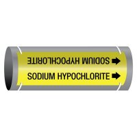 Ultra-Mark® Snap-Around High Performance Pipe Markers - Sodium Hypochlorite