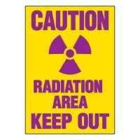 Ultra-Stick Signs - Caution Radiation Area